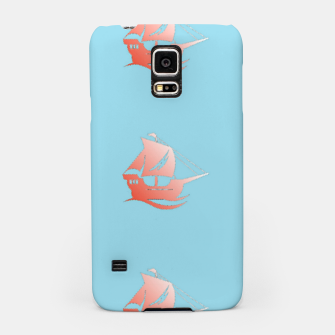 Miniatur Red ships on blue Samsung Case, Live Heroes