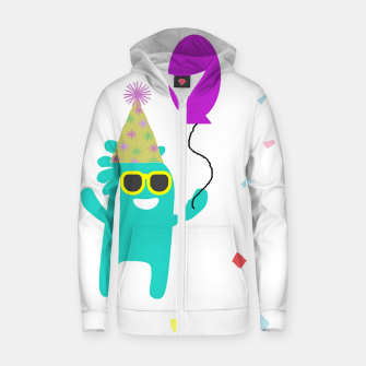Monster party Zip up hoodie thumbnail image