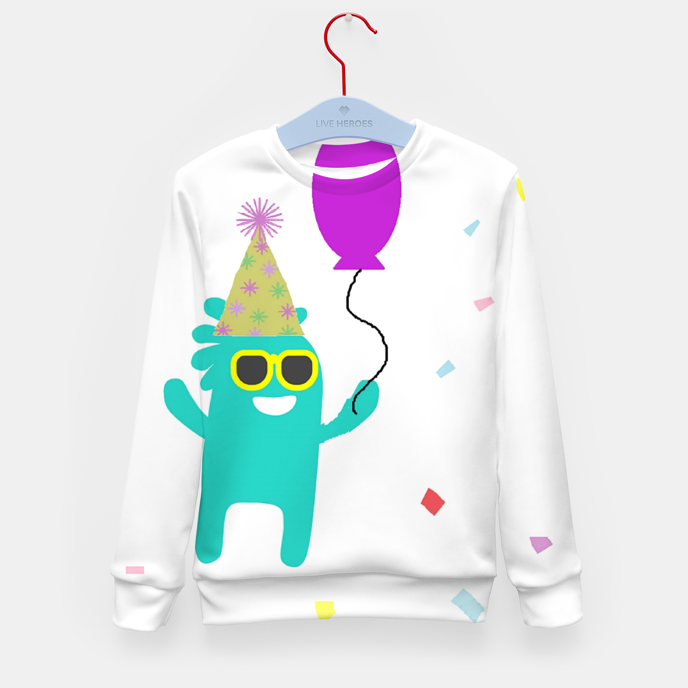 Image of Monster party Kid's sweater - Live Heroes