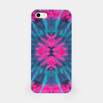 Miniatur Pink and blue tie dye iPhone Case, Live Heroes