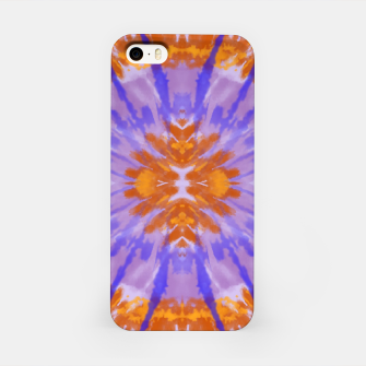 Thumbnail image of Orange and purple tie dye iPhone Case, Live Heroes
