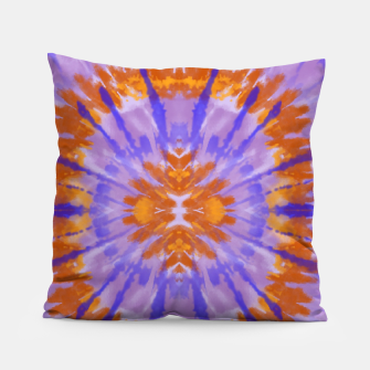 Thumbnail image of Orange and purple tie dye Pillow, Live Heroes