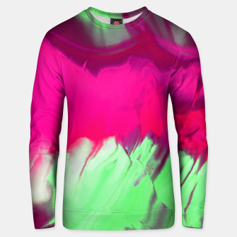 Thumbnail image of Pink and green painted Unisex sweater, Live Heroes