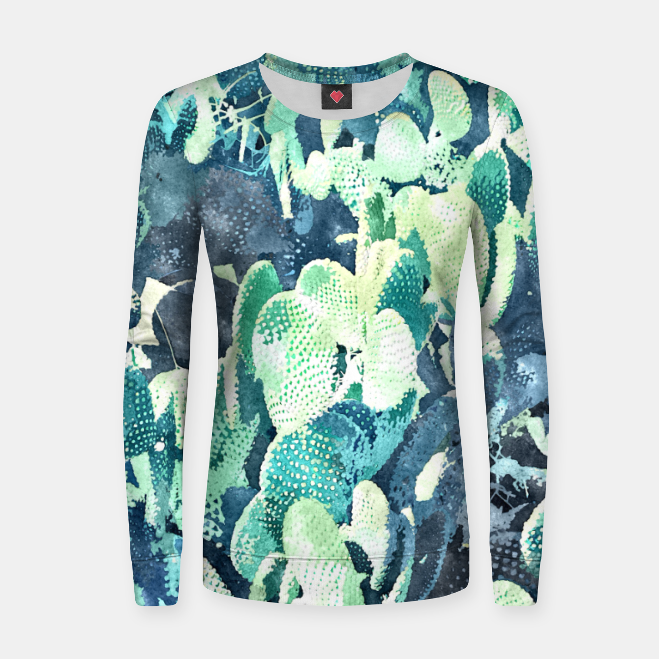 Image of Watercolor Cactus V3 Women sweater - Live Heroes