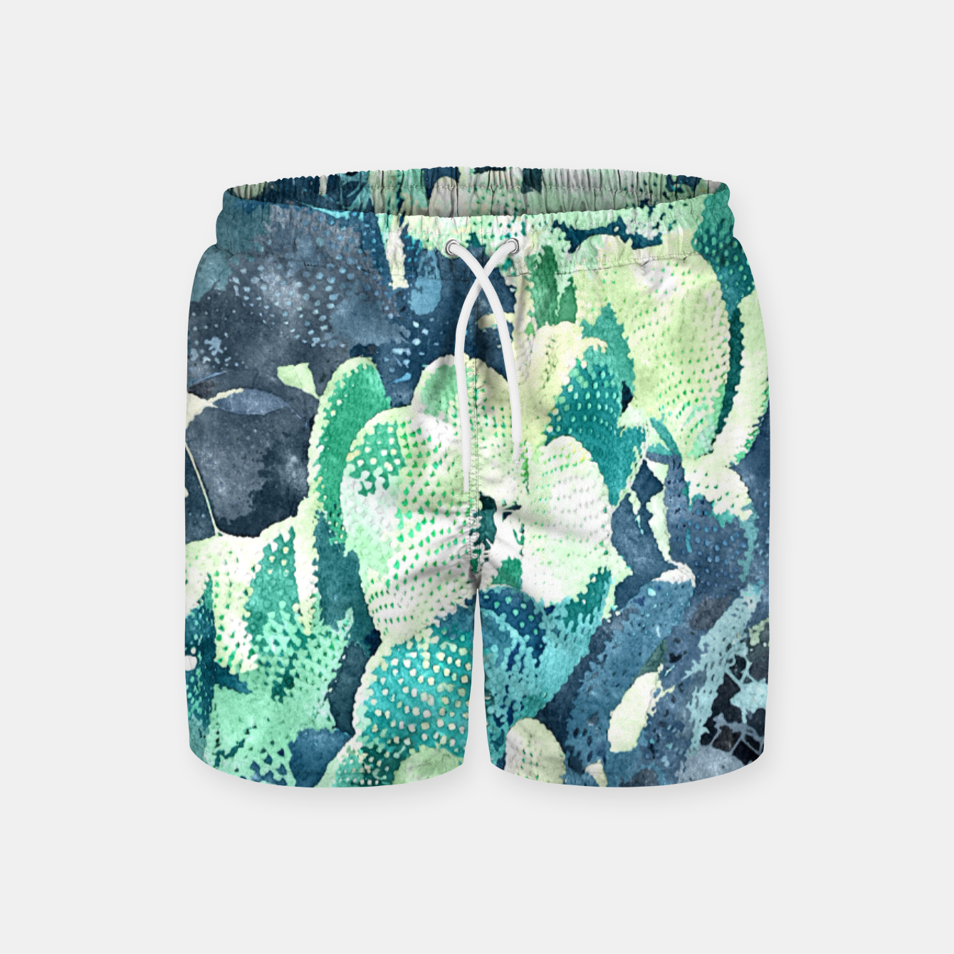 Image of Watercolor Cactus V3 Swim Shorts - Live Heroes