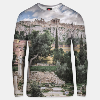 Thumbnail image of Acropolis and Roman Agora, Athens, Greece Unisex sweater, Live Heroes