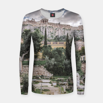 Thumbnail image of Acropolis and Roman Agora, Athens, Greece Women sweater, Live Heroes