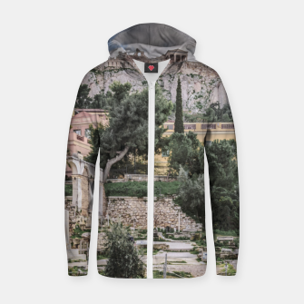 Thumbnail image of Acropolis and Roman Agora, Athens, Greece Zip up hoodie, Live Heroes
