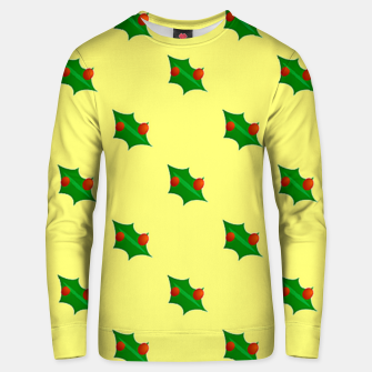 Thumbnail image of Christmas holly Unisex sweater, Live Heroes