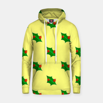 Thumbnail image of Christmas holly Hoodie, Live Heroes