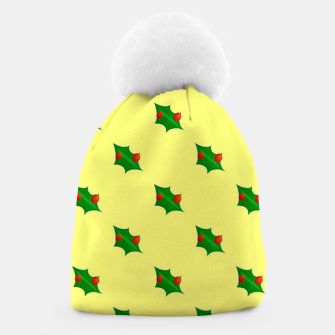 Thumbnail image of Christmas holly Beanie, Live Heroes