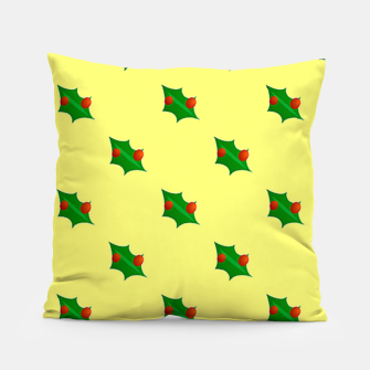 Thumbnail image of Christmas holly Pillow, Live Heroes