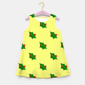Thumbnail image of Christmas holly Girl's summer dress, Live Heroes