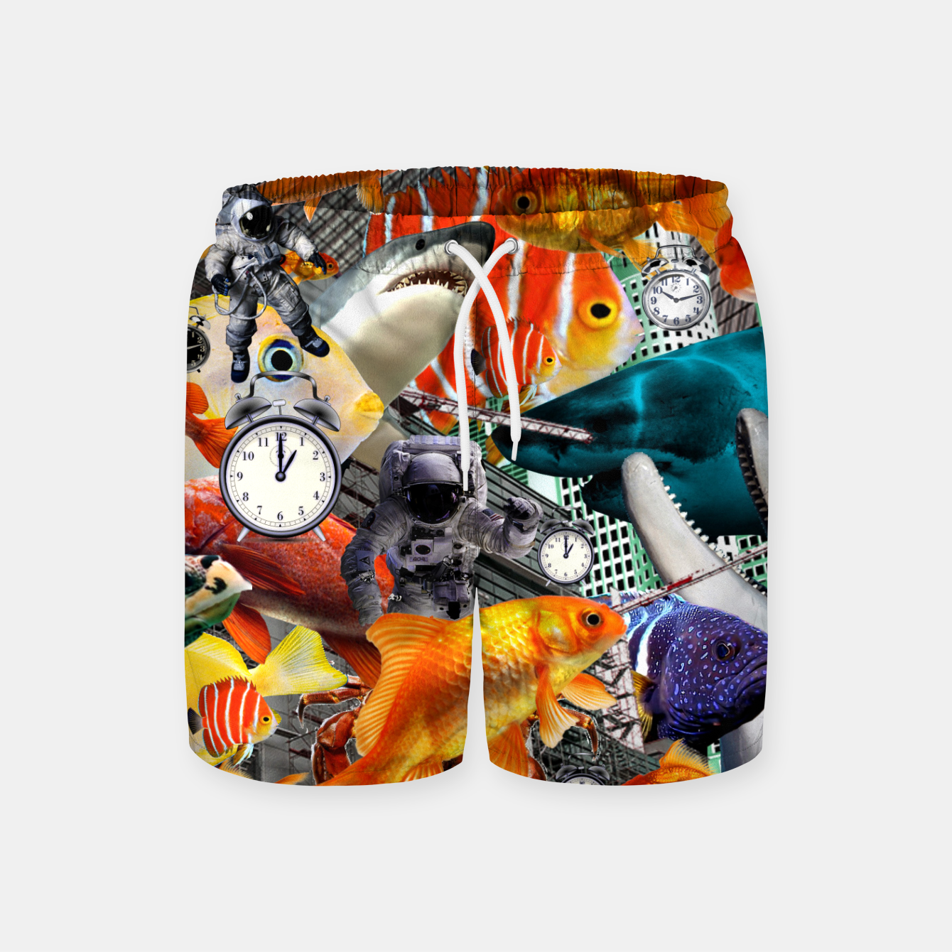 Image of ADVENTURES THROUGH TIME STOP THE CLOCK Swim Shorts - Live Heroes