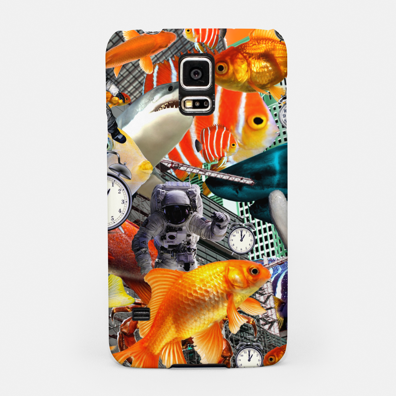 Image of ADVENTURES THROUGH TIME STOP THE CLOCK Samsung Case - Live Heroes