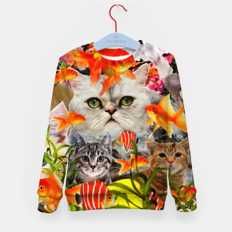 Thumbnail image of AQUARIUM LIFE CROPPED Kid's sweater, Live Heroes