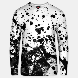 Thumbnail image of Black and White Abstract Liquid Design Unisex sweater, Live Heroes