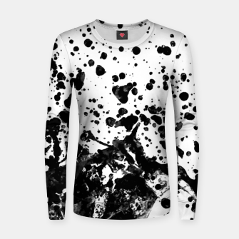Thumbnail image of Black and White Abstract Liquid Design Women sweater, Live Heroes