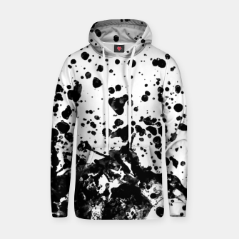 Thumbnail image of Black and White Abstract Liquid Design Hoodie, Live Heroes