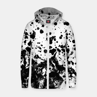 Thumbnail image of Black and White Abstract Liquid Design Zip up hoodie, Live Heroes