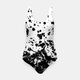 Thumbnail image of Black and White Abstract Liquid Design Swimsuit, Live Heroes