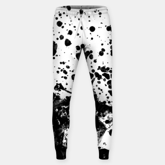 Thumbnail image of Black and White Abstract Liquid Design Sweatpants, Live Heroes