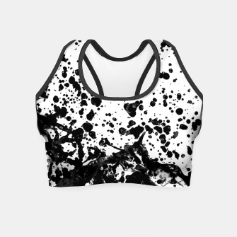 Thumbnail image of Black and White Abstract Liquid Design Crop Top, Live Heroes