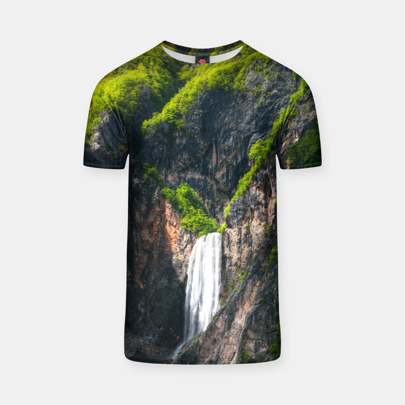 Image of Majestic waterfall Boka in spring glory T-shirt - Live Heroes