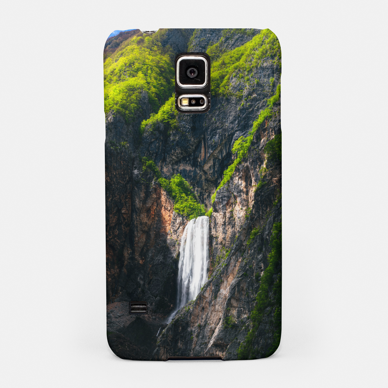 Image of Majestic waterfall Boka in spring glory Samsung Case - Live Heroes