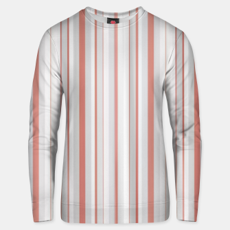 Thumbnail image of Salmon and Grey Linear Design Unisex sweater, Live Heroes