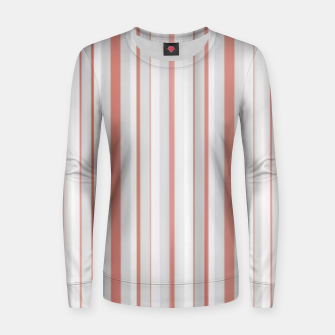 Thumbnail image of Salmon and Grey Linear Design Women sweater, Live Heroes