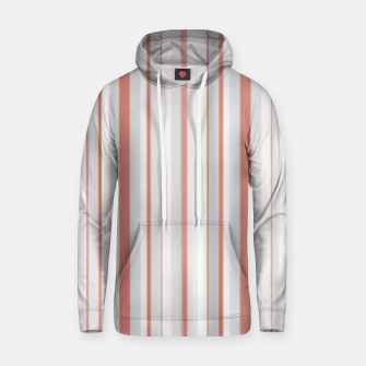 Thumbnail image of Salmon and Grey Linear Design Hoodie, Live Heroes