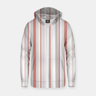 Thumbnail image of Salmon and Grey Linear Design Zip up hoodie, Live Heroes
