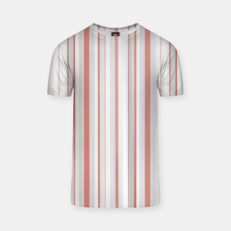 Thumbnail image of Salmon and Grey Linear Design T-shirt, Live Heroes