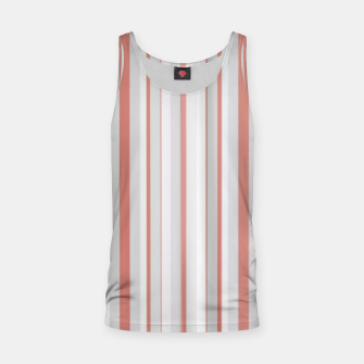 Thumbnail image of Salmon and Grey Linear Design Tank Top, Live Heroes