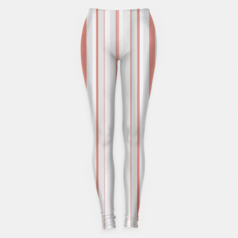 Thumbnail image of Salmon and Grey Linear Design Leggings, Live Heroes