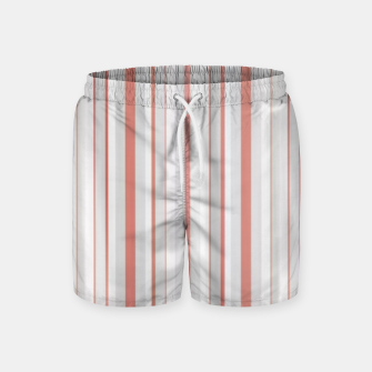 Thumbnail image of Salmon and Grey Linear Design Swim Shorts, Live Heroes