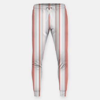 Thumbnail image of Salmon and Grey Linear Design Sweatpants, Live Heroes