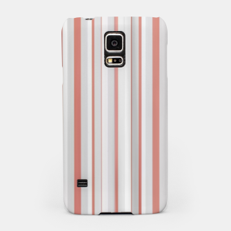 Thumbnail image of Salmon and Grey Linear Design Samsung Case, Live Heroes