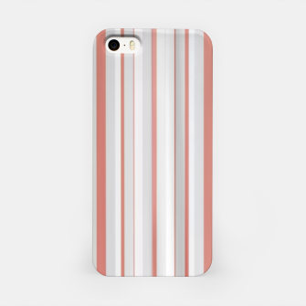 Thumbnail image of Salmon and Grey Linear Design iPhone Case, Live Heroes