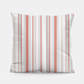 Thumbnail image of Salmon and Grey Linear Design Pillow, Live Heroes