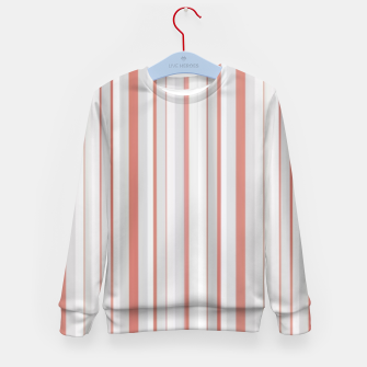 Thumbnail image of Salmon and Grey Linear Design Kid's sweater, Live Heroes