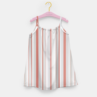 Thumbnail image of Salmon and Grey Linear Design Girl's dress, Live Heroes