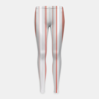 Thumbnail image of Salmon and Grey Linear Design Girl's leggings, Live Heroes