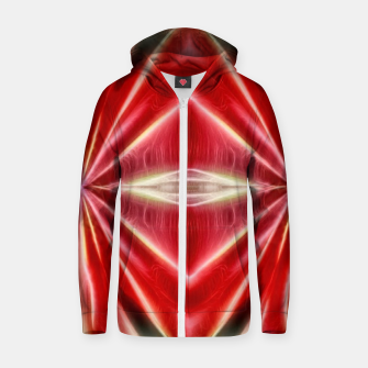 Thumbnail image of Red gradient shiny abstract Zip up hoodie, Live Heroes