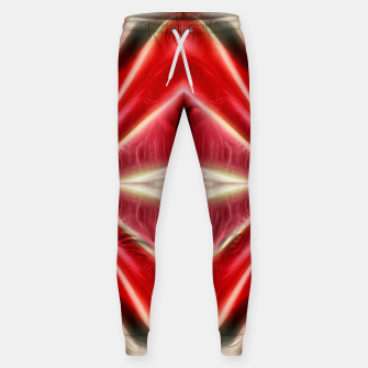 Thumbnail image of Red gradient shiny abstract Sweatpants, Live Heroes