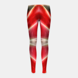 Thumbnail image of Red gradient shiny abstract Girl's leggings, Live Heroes