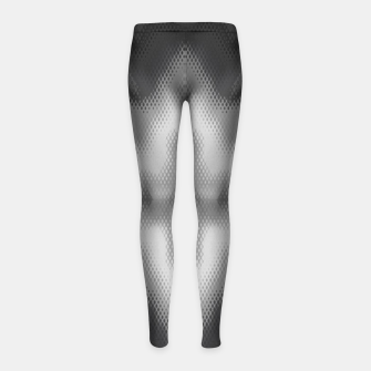 Thumbnail image of Abstract spark gray Girl's leggings, Live Heroes