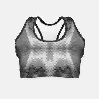 Thumbnail image of Abstract spark gray Crop Top, Live Heroes
