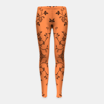 Thumbnail image of Vines and flowers Girl's leggings, Live Heroes